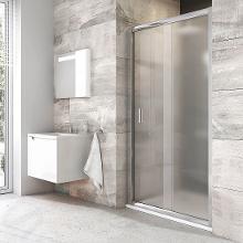 Ravak Blix - Sprchové dvere BLDP2-120, 1170– 210 mm, lesklý hliník/sklo grape 0PVG0C00ZG