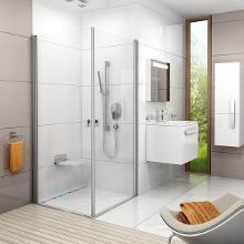 Ravak Chrome - Sprchové dvere CRV1-90, 880mm – 900 mm – farba lesklý hliník, sklo transparent 1QV70C01Z1