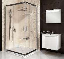 Ravak Blix - Rohový sprchovací kút posuvný štvordielny BLRV2K 80, 780 - 800 mm - farba lesklý hliník, sklo transparent 1XV40C00Z1