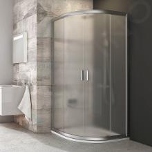 Ravak Blix - Štvrťkruhový sprchovací kút posuvný štvordielny BLCP4, 775mm – 795 mmx775mm – 795 mm – farba satin, sklo grape 3B240U00ZG