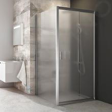 Ravak Blix - Sprchová stena pevná, jednodielna, 870-890 mm, satin/sklo grape 9BH70U00ZG