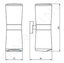 Novaservis Metalia 12 - Distributeur de tampons démaquillants et de cotons-tiges, chrome 0282,0