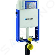Geberit Kombifix - Installationselement für Wand-WC mit Betätigungsplatte SIGMA30, matt/ glänzend Chrom + Ideal Standard Quarzo- WC und WC Sitz 110.302.00.5 ND6