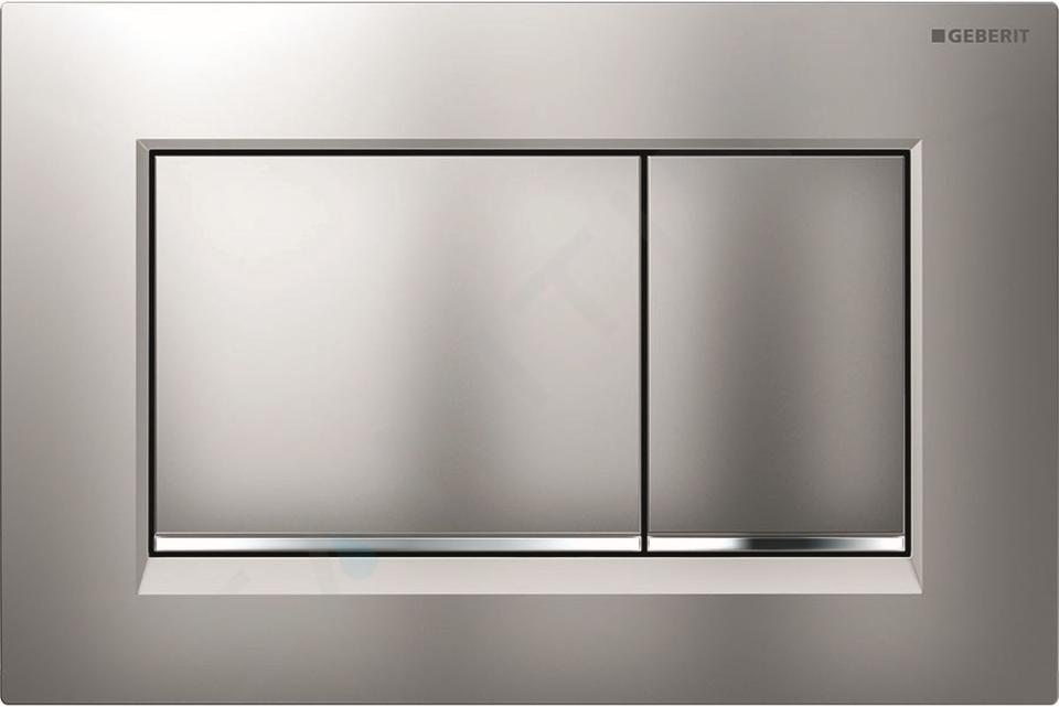 Geberit Kombifix - Inbouwreservoir voor hangend toilet met SIGMA30 bedieningsknop, mat chroom/chroom + Ideal Standard Quarzo - hangend toilet en wc-bril 110.302.00.5 ND7