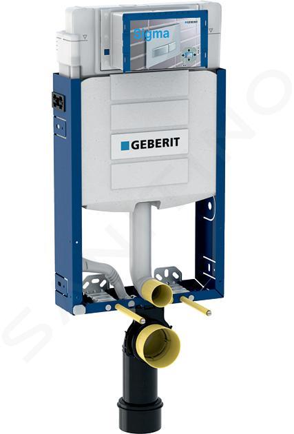 Geberit Kombifix - Bâti-support pour WC suspendu avec plaque de déclenchement Sigma30, blanc/chrome brillant + Ideal Standard Quarzo – cuvette et abattant 110.302.00.5 NR5