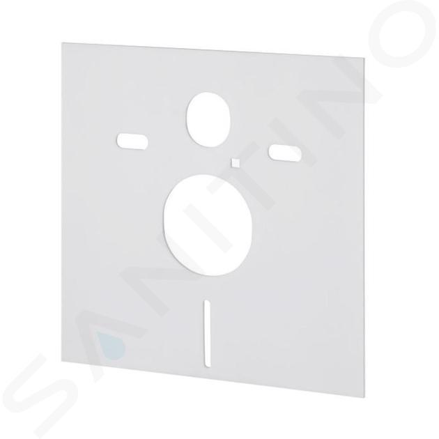 Geberit Kombifix - Inbouwreservoir voor hangend toilet met SIGMA30 bedieningsknop, glanzend chroom/chroom mat + Ideal Standard Quarzo - hangend toilet en wc-bril 110.302.00.5 NR6