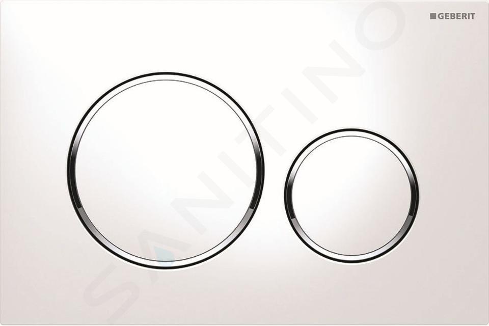 Geberit Duofix - Bâti-support pour WC suspendu avec plaque de déclenchement Sigma20, blanc/chrome brillant + Ideal Standard Quarzo – cuvette et abattant 111.300.00.5 ND4