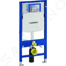 Geberit Duofix - Inbouwreservoir voor hangend toilet met SIGMA30 bedieningsknop, glanzend chroom/chroom + Ideal Standard Quarzo - hangend douche-wc en wc-bril 111.300.00.5 ND6