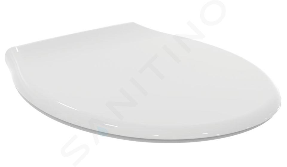 Geberit Duofix - Inbouwreservoir voor hangend toilet met SIGMA01 bedieningsknop, glanzend chroom + Ideal Standard Quarzo - hangend toilet en wc-bril 111.300.00.5 NR2