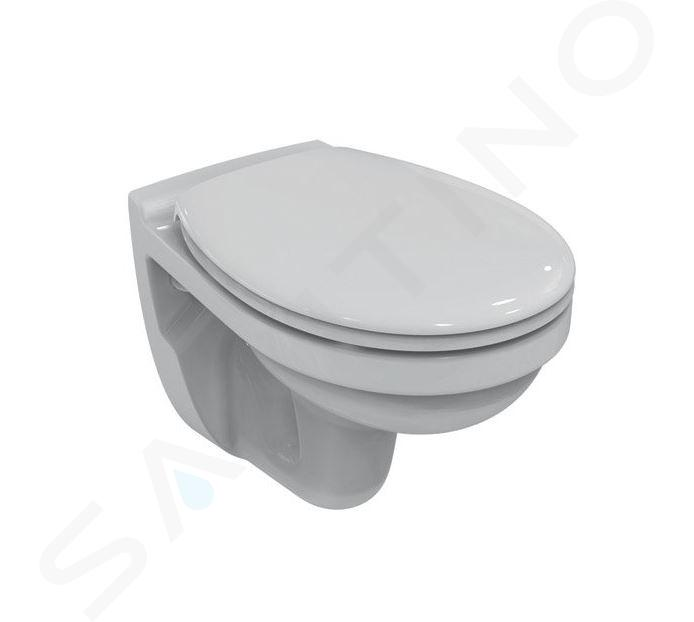 Geberit Duofix - Bâti-support pour WC suspendu avec plaque de déclenchement Sigma 20, blanc/chrome brillant + Ideal Standard Quarzo – cuvette et abattant 111.355.00.5 ND4