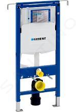 Geberit Duofix - Inbouwreservoir voor hangend toilet met SIGMA30 bedieningsknop, glanzend chroom/chroom mat + Ideal Standard Quarzo - hangend toilet en wc-bril 111.355.00.5 NR6