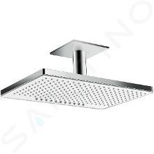 Hansgrohe Rainmaker Select - Soffione doccia 460, 2 getti, EcoSmart 9 l/min, barccio doccia 100 mm, bianco/cromato 24014400