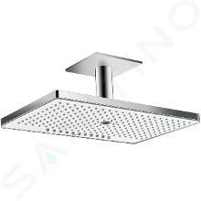 Hansgrohe Rainmaker Select - Hlavová sprcha 460, 3 prúdy, EcoSmart 9 l/min, sprchové rameno 100 mm, biela/chróm 24016400
