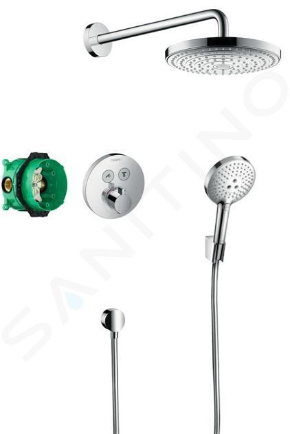 Hansgrohe Raindance Select S - Set de douche 240 avec thermostat ShowerSelect S, 2 jets, chrome 27297000