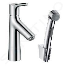 Hansgrohe Talis S - Páková umývadlová batéria s ručnou sprchou Bidette, chróm 72290000