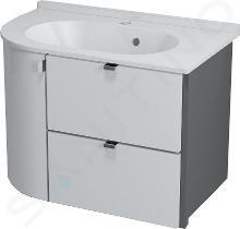 Sapho Kompozície - Umývadlová skrinka PULSE, 75 cmx52 cmx45 cm, pravá, biela/antracitová PU076P