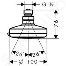 Hansgrohe Croma 100 - Vario hoofddouche, EcoSmart 9l/min, chroom 28462000