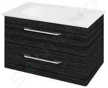 Sapho Pura - Umývadlová skrinka 790x505x485 mm, graphite line PR083