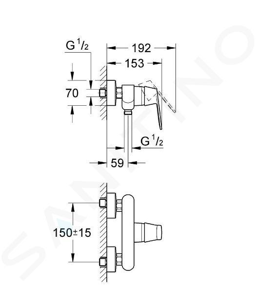 Grohe Eurosmart Cosmopolitan - Miscelatore doccia monocomando, cromato 32837000