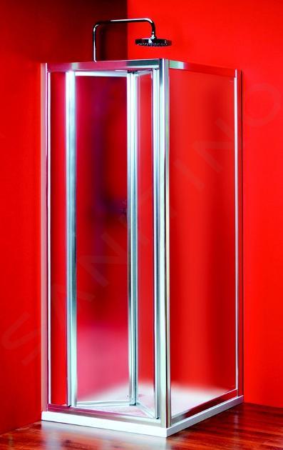 Gelco Sigma - Sprchové dveře skládací 800 mm, sklo Brick SG3848