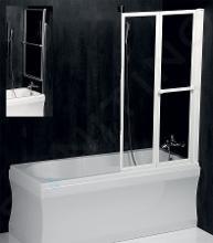 Polysan Lanka2 - Pneumatická vaňová zástena 820 mm, biely rám, číre sklo 37517