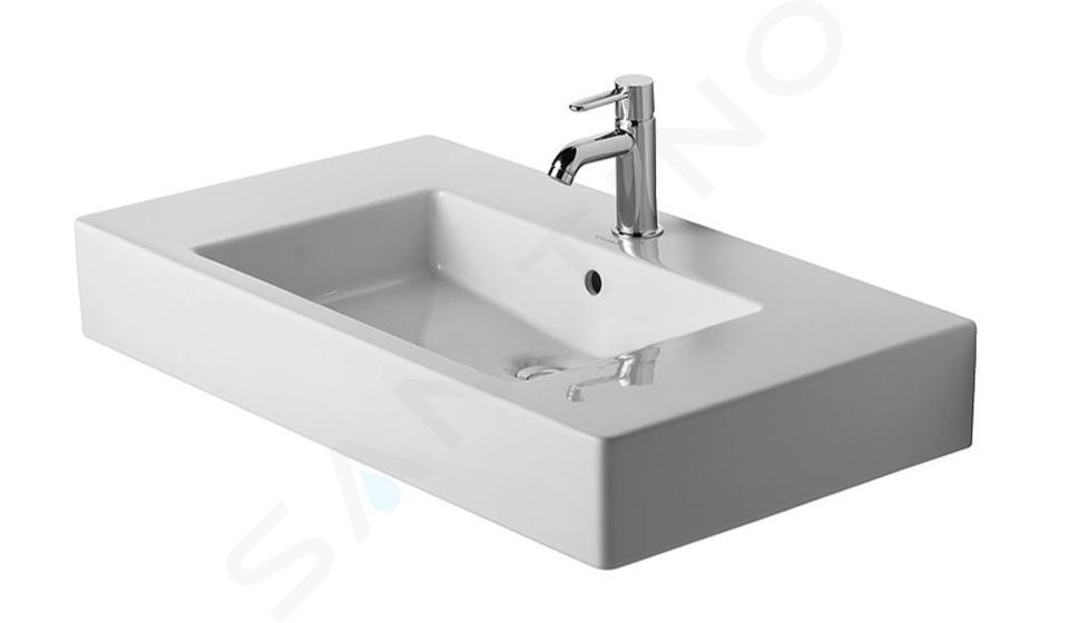 Duravit Vero - Waschbecken 850x490 mm, 1 Hahnloch, Alpinweiß 0329850000