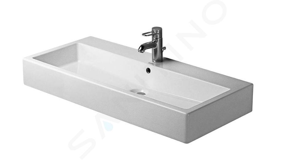 Duravit Vero - Lavabo 1000x470 mm, con 1 foro per miscelatore, bianco alpino 0454100000