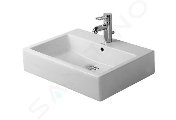 Duravit Vero - Vasque à poser, 500x470 mm, avec un trou pour robinetterie, blanc alpin 0452500000