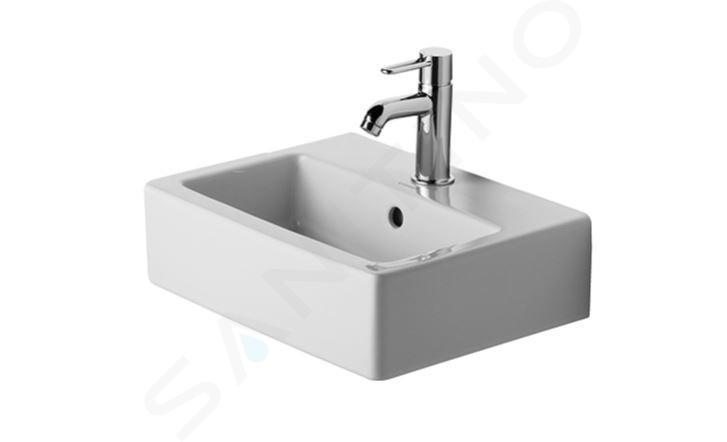 Duravit Vero - Handwaschbecken 450x350 mm, 1 Hahnloch,  Alpinweiß 0704450000