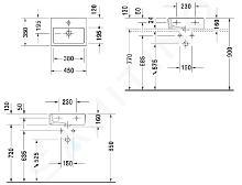Duravit Vero - Fontein 450x350 mm, 1 kraangat, alpine wit 0704450000