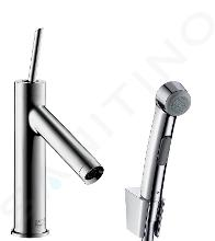 Axor Starck - Súprava umyvadlové batérie s bidetovou spŕškou a sprchovou hadicou, chróm 10300000