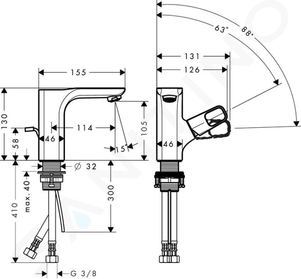 Axor Urquiola - Mitigeur de lave-mains, chrome 11025000