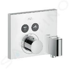 Axor ShowerSelect - Square thermostaat mengkraan met stopkraan voor 2 functies, Fixfit en douchehouder, chroom 36712000