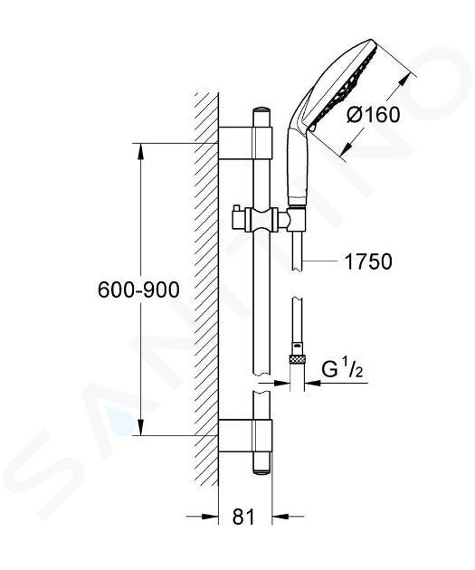 Grohe Rainshower - Set doccia 160 mm Classic, cromato 28770001