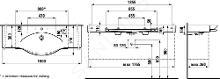 Laufen Palace - Umývadlo do nábytku, 1800mmx510mm, biela – s 3 otvormi na batériu H8127080001081