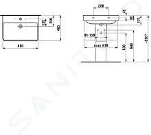 Laufen Pro S - Umyvadlo, 650x465 mm, 1 otvor pro baterii, s LCC, bílá H8109644001041