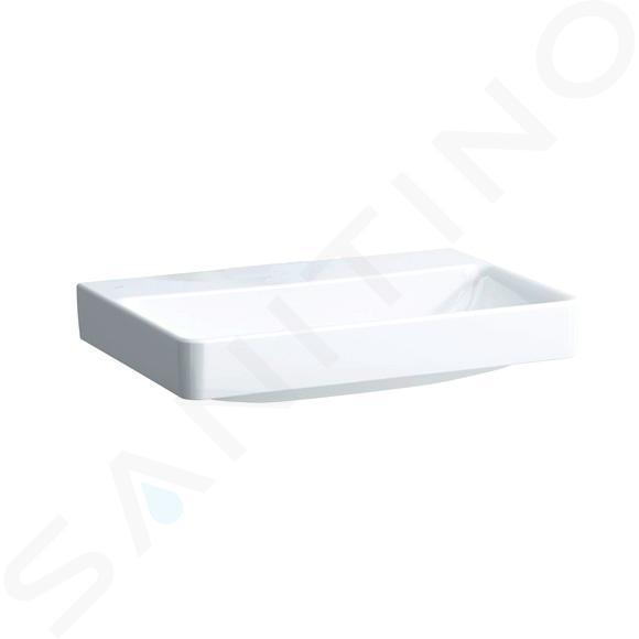 Laufen Pro S - Umyvadlo, 650x465 mm, bez otvoru pro baterii, bez přepadu, s LCC, bílá H8109644001421