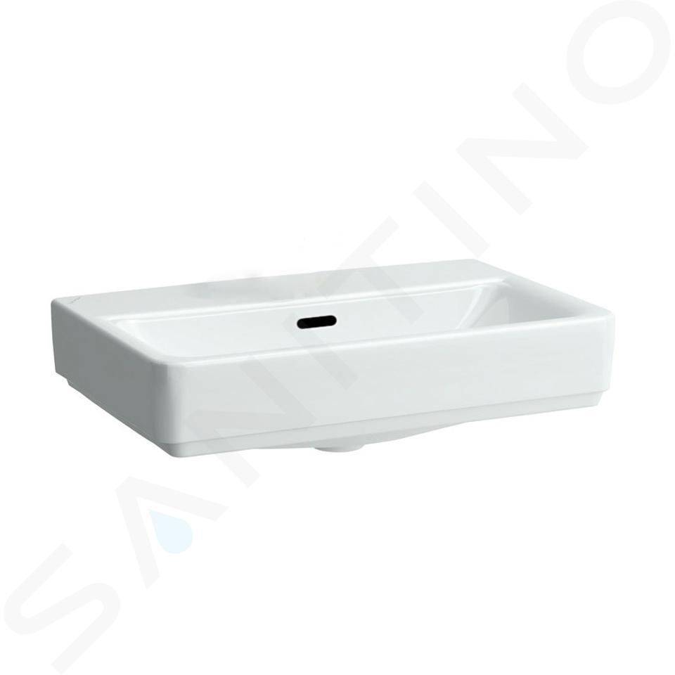 Laufen Pro S - Umyvadlo Compact, 550x380 mm, bez otvoru pro baterii, bílá H8179580001091