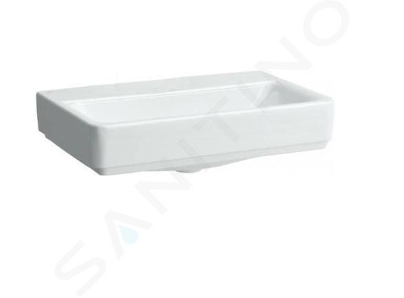 Laufen Pro S - Umyvadlo Compact, 550x380 mm, bez otvoru pro baterii, bez přepadu, s LCC, bílá H8179584001421
