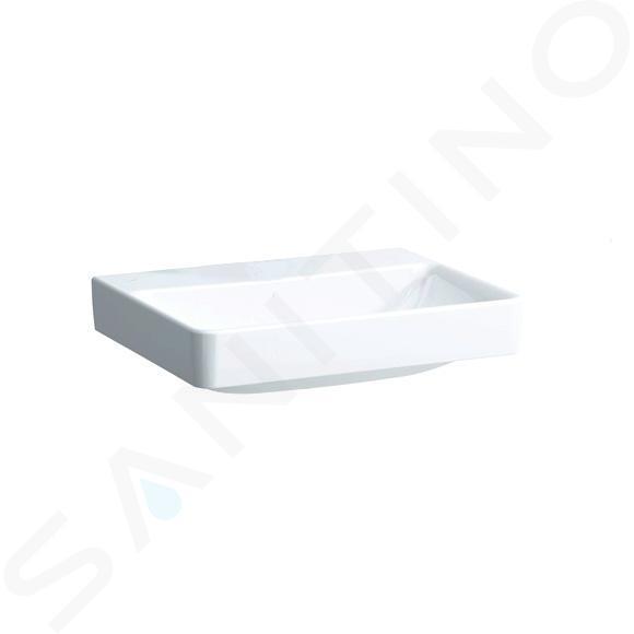 Laufen Pro S - Umyvadlo, 600x465 mm, bez otvoru pro baterii, bez přepadu, s LCC, bílá H8109634001421