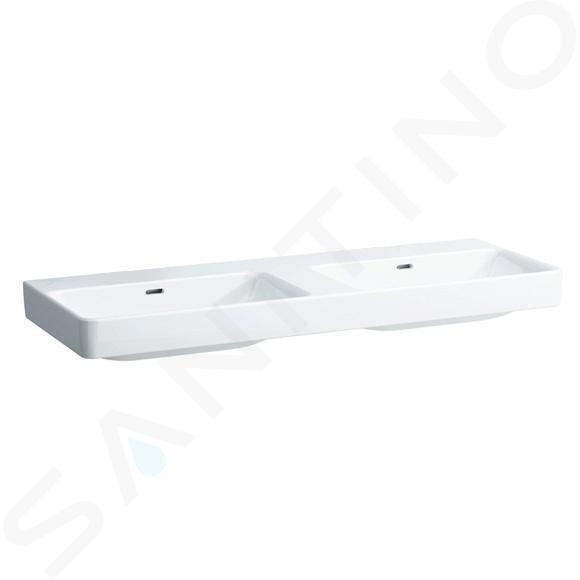Laufen Pro S - Dvojumyvadlo, 1300x460 mm, bez otvoru pro baterii, bílá H8149680001091