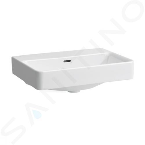 Laufen Pro S - Umyvadlo Compact, 550x380 mm, bez otvoru pro baterii, s LCC, bílá H8189584001091