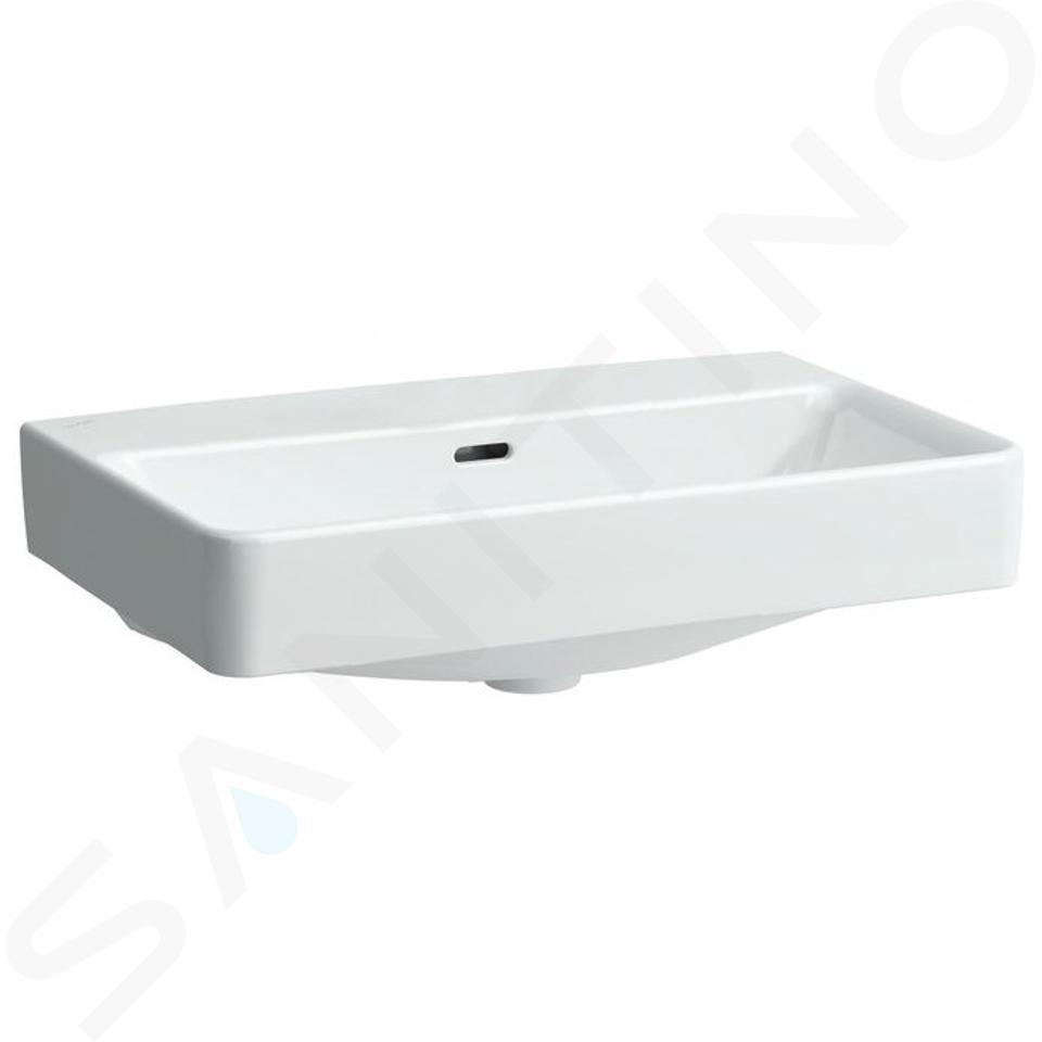 Laufen Pro S - Umyvadlo Compact, 600x380 mm, bez otvoru pro baterii, s LCC, bílá H8189594001091
