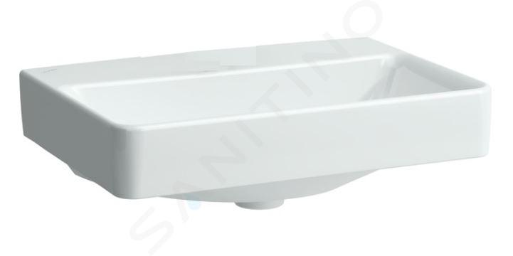 Laufen Pro S - Umyvadlo Compact, 600x380 mm, bez otvoru pro baterii, bez přepadu, s LCC, bílá H8189594001421