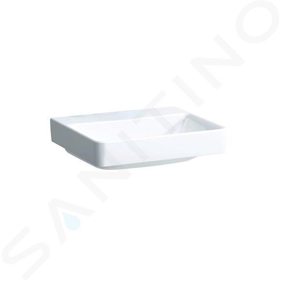 Laufen Pro S - Umyvadlo, 550x465 mm, bez otvoru pro baterii, bez přepadu, s LCC, bílá H8169624001421