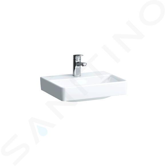 Laufen Pro S - Umývátko, 450x340 mm, 1 otvor pro baterii, bez přepadu, bílá H8169610001561