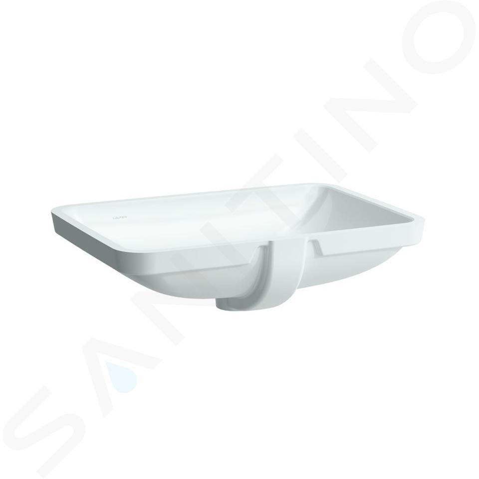 Laufen Pro S - Umyvadlo, 600x400 mm, bez otvoru pro baterii, bílá H8119650001091