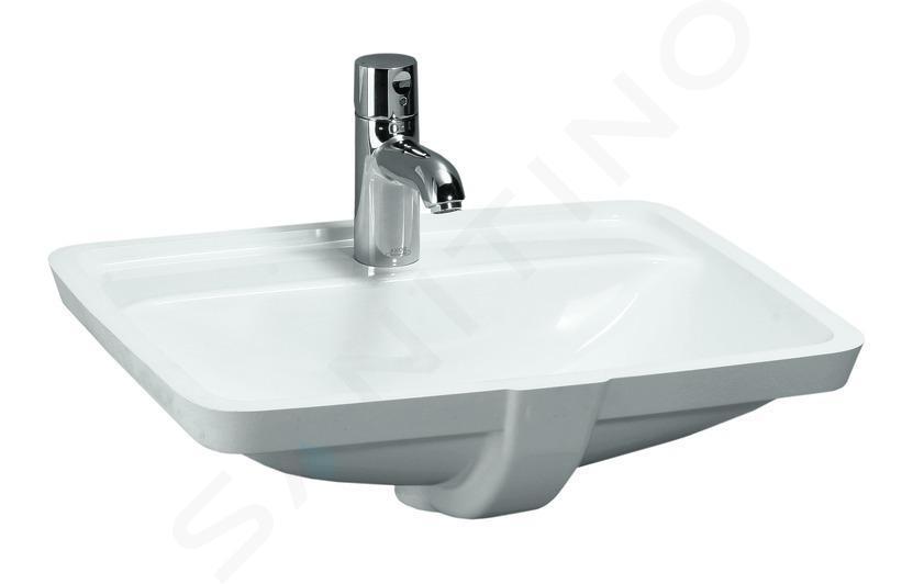 Laufen Pro S - Umyvadlo, 490x360 mm, bez otvoru pro baterii, bílá H8119660001091