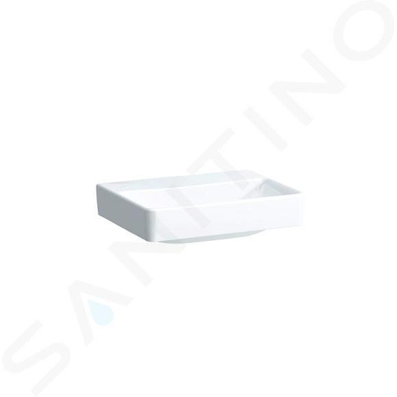 Laufen Pro S - Umývátko, 450x340 mm, bez otvoru pro baterii, bez přepadu, s LCC, bílá H8159614001421
