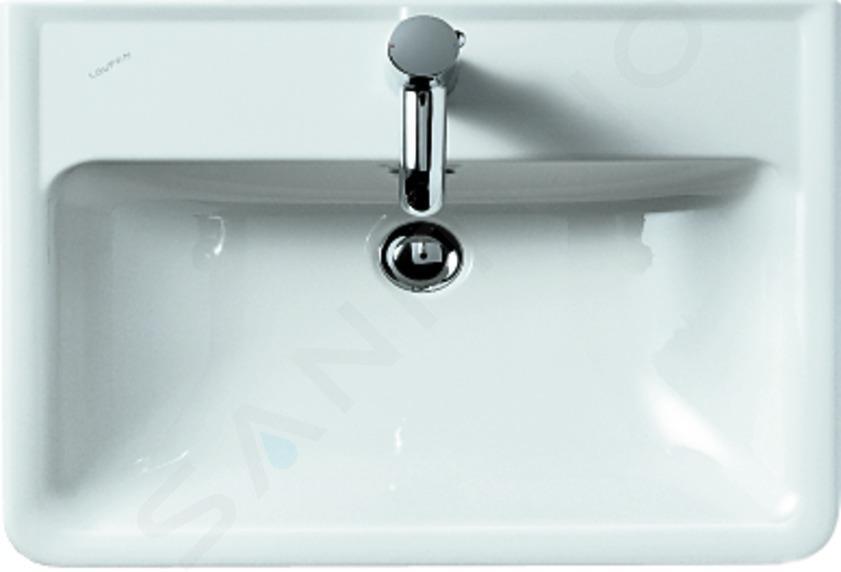 Laufen Pro - Wastafel, 600x480 mm, met kraangat, wit H8189520001041